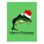 Navidad divertido de la pesca postal