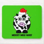 Navidad divertido de la vaca tapete de ratones
