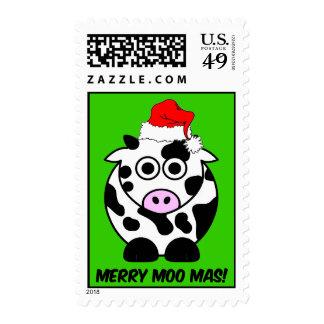 Navidad divertido de la vaca timbres postales