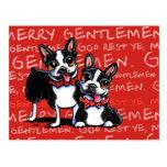 Navidad divertido de los felices caballeros de tarjetas postales