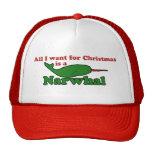 Navidad divertido de Narwhal Gorra