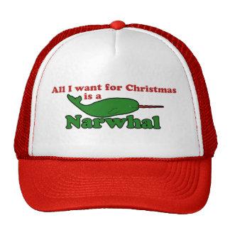 Navidad divertido de Narwhal Gorros