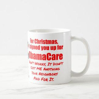 Navidad divertido de ObamaCare Taza Clásica