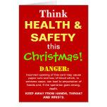 Navidad divertido de salud y de la seguridad que a tarjetón
