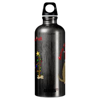 Navidad divertido del campesino sureño botella de agua