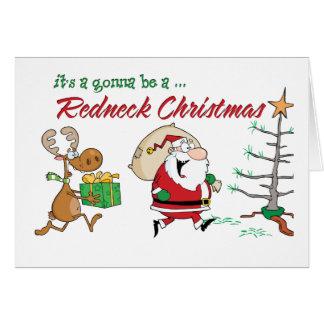 Navidad divertido del campesino sureño felicitaciones