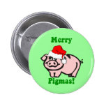 Navidad divertido del cerdo pins