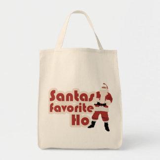 Navidad divertido del favorito de Santas Ho Bolsa Tela Para La Compra