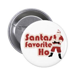 Navidad divertido del favorito de Santas Ho Pin Redondo De 2 Pulgadas
