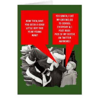 Navidad divertido del gorjeo tarjeta de felicitación
