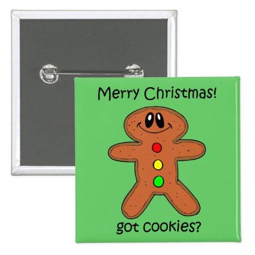 Navidad divertido del hombre de pan de jengibre pins