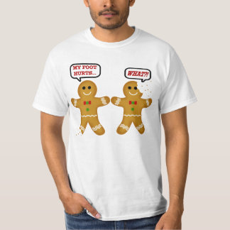 Navidad divertido del hombre de pan de jengibre playera