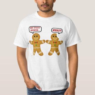 Navidad divertido del hombre de pan de jengibre playeras