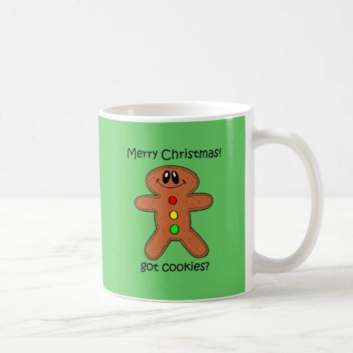 Navidad divertido del hombre de pan de jengibre taza