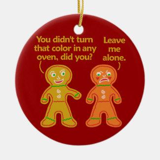 Navidad divertido del moreno de la falsificación adorno de navidad