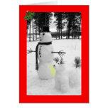 Navidad divertido del muñeco de nieve felicitacion