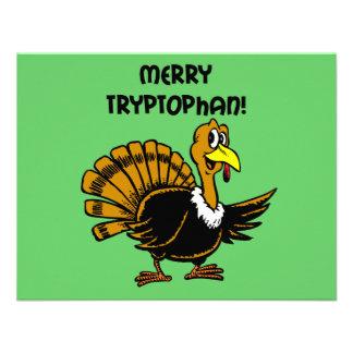 Navidad divertido del pavo invitacion personalizada