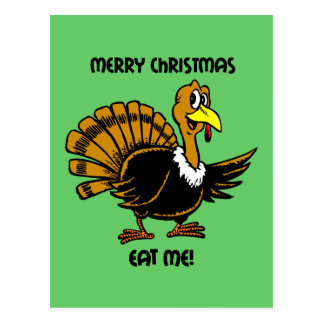 Navidad divertido del pavo postal