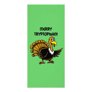 Navidad divertido del pavo tarjetas publicitarias