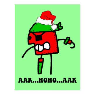 Navidad divertido del pirata postal