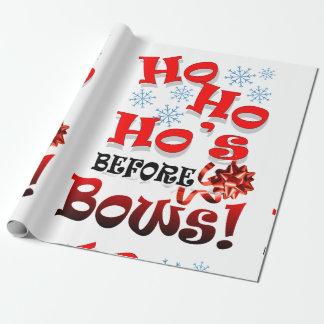 navidad divertido, papel de regalo de los saludos