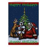 Navidad divertido que bebe la tarjeta del fiesta b