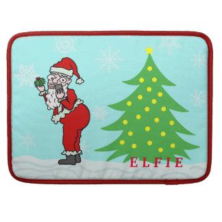 Navidad divertido Santa Elfie personalizado Funda Para Macbook Pro