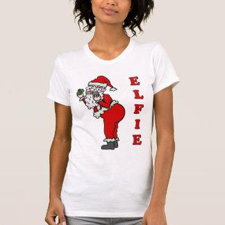 Navidad divertido Santa Elfie Playera