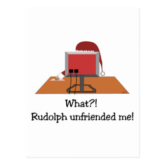 Navidad divertido - Santa sin amigos por Rudolph Postal