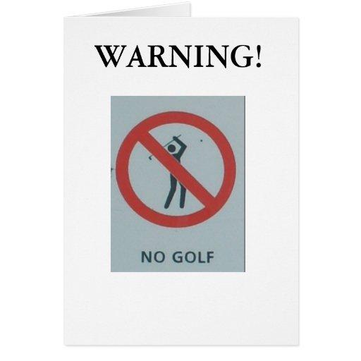 "Navidad divertido tarjeta de ""ningún golf"""
