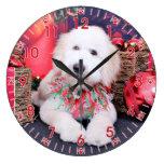 Navidad - Doodle - Tripp Reloj De Pared