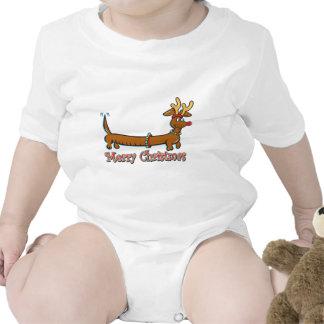 Navidad Doxie del reno Traje De Bebé
