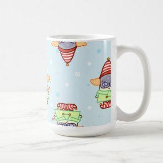 Navidad Drinkware del duende del barro amasado Tazas De Café