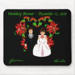 Navidad/ducha I Mousepad del boda de diciembre Alfombrillas De Raton