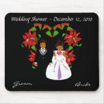 Navidad/ducha II Mousepad del boda de diciembre Alfombrilla De Raton