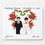 Navidad/ducha Mousepad del boda de diciembre Alfombrillas De Ratones