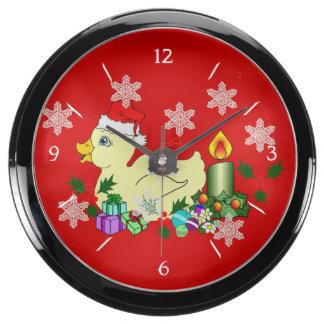 Navidad Duckie Reloj Acuario