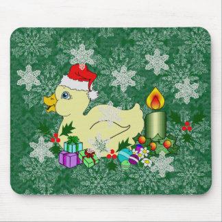 Navidad Duckie Alfombrilla De Ratones