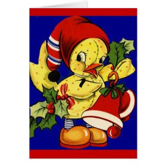 Navidad Ducky amarillo Tarjeta De Felicitación