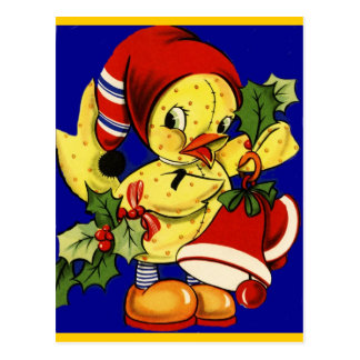 Navidad Ducky amarillo Tarjetas Postales