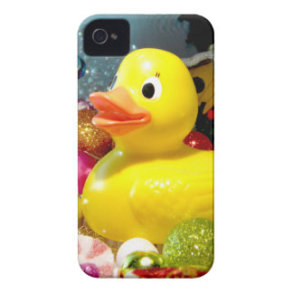 Navidad Ducky I iPhone 4 Case-Mate Protectores