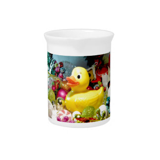 Navidad Ducky I Jarra De Beber