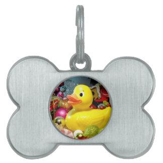 Navidad Ducky I Placas De Nombre De Mascota