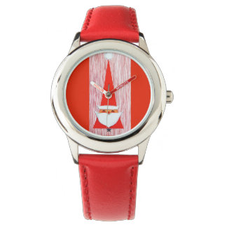 Navidad dulce estupendo Santa del vintage Relojes
