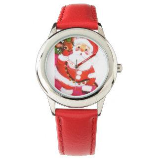 Navidad dulce estupendo Santa del vintage y reno Relojes De Mano
