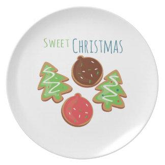 Navidad dulce platos de comidas