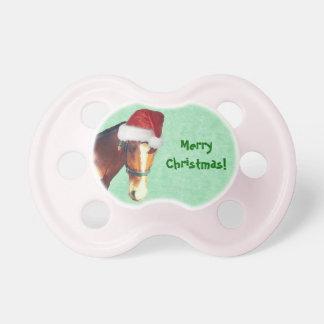 Navidad ecuestre chupete de bebé
