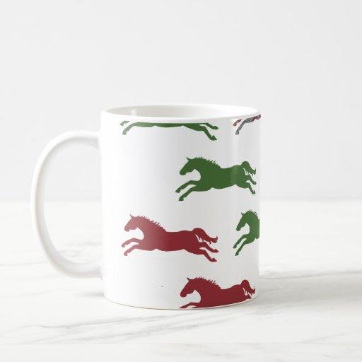 Navidad ecuestre clásico taza