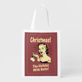 Navidad: El día de fiesta con las bolas Bolsa Para La Compra