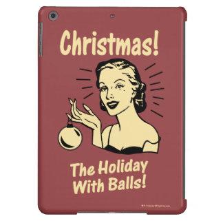 Navidad: El día de fiesta con las bolas Funda Para iPad Air